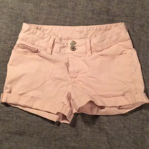 LONDON JEAN Light Pink Denim Shorts